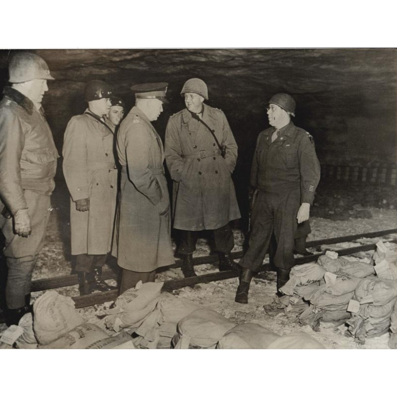 Das Gold der Reichsbank im Salzbergwerk gefunden. Original Fotografie (1945)