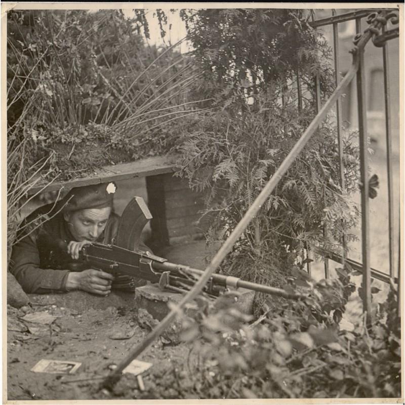 British Second Army and Bridgend South Wales Watkins: Garden Dug-Out. Original Fotografie (1944)