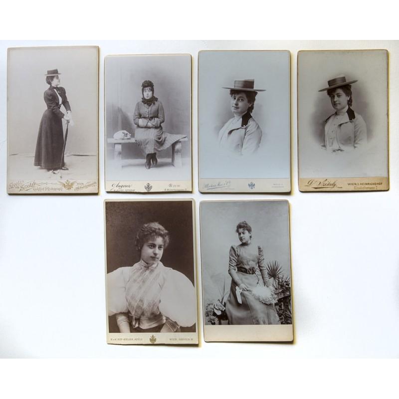 6 Schauspierinnen am Burgtheater: Rosa Albach-Retty (die Grossmutter von Romy Schneider) (ca. 1890 - 1914).