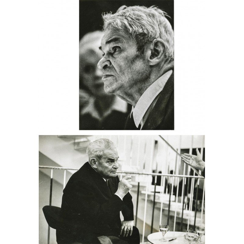 MOSES, Stefan: Der Theater Regisseur Fritz Kortner. Zwei Original-Fotografien (1965).