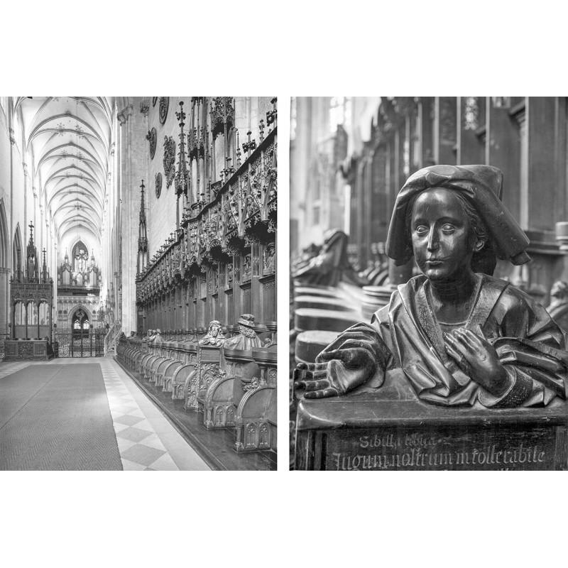 Schmidt-Glassner: Ulmer Münster. Zwei Original Fotografien (1950er Jahre).