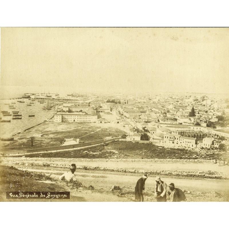 Historische Fotografie mit Ansichten aus Smyrna (Izmir): Stadtansicht.Original Fotografie (ca. 1898).