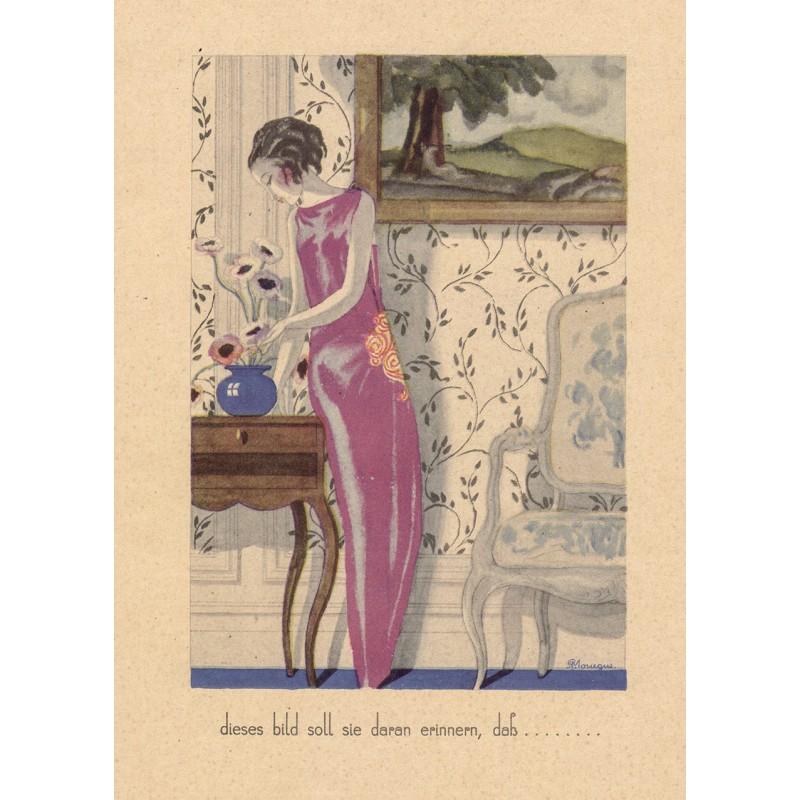 Art Deco Plakat - Mourgue, Pierre: Plakat-Entwurf in farbigem Offsetdruck (1920er Jahre).
