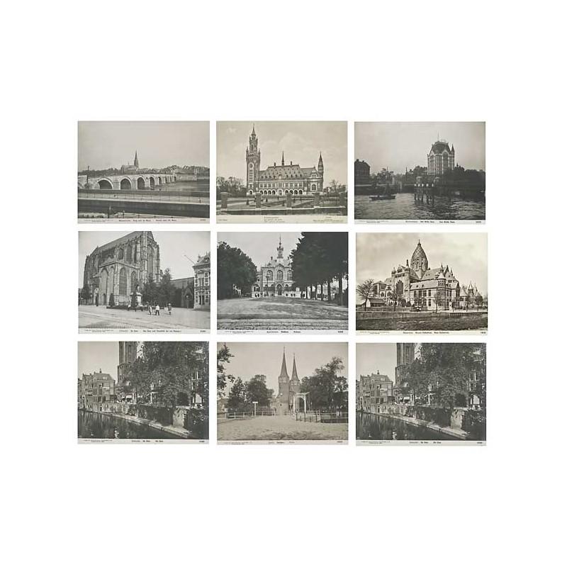 Niederlande / Holland: 9 Original-Fotografien (1909).