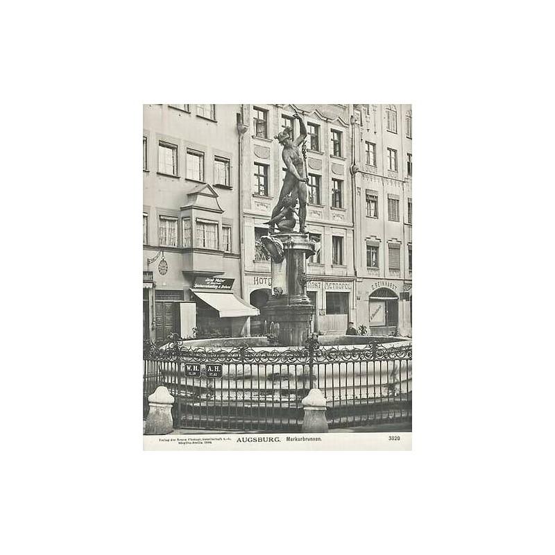 NPG, Berlin-Steglitz: Augsburg. Merkurbrunnen. Original-Fotografie (1906).
