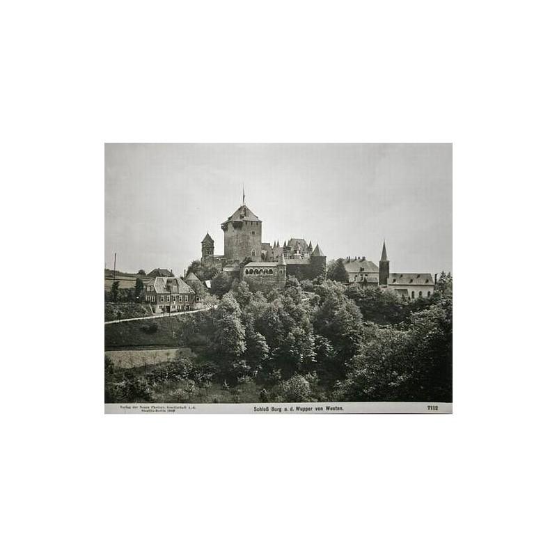 NPG, Berlin-Steglitz: Schloss Burg an der Wupper. Original-Fotografie (1909).