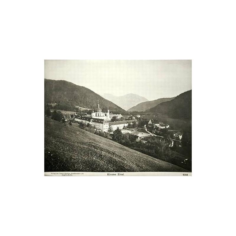 NPG, Berlin-Steglitz: Kloster Ettal. Original-Fotografie (ca. 1905).