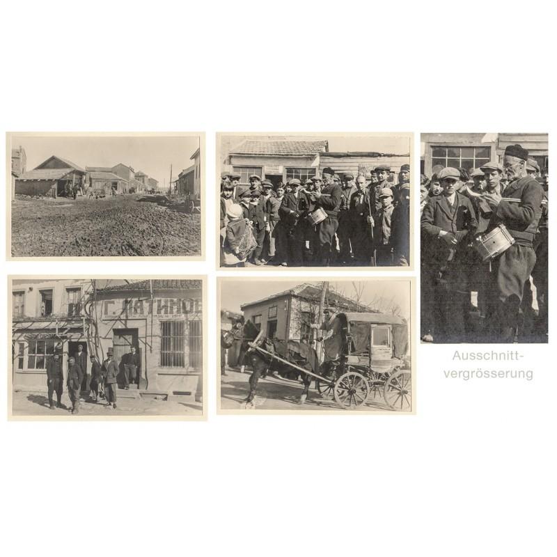 Anonymer Fotograf: Svilengrad, Bulgarien. Vier Original-Fotografien (1931).