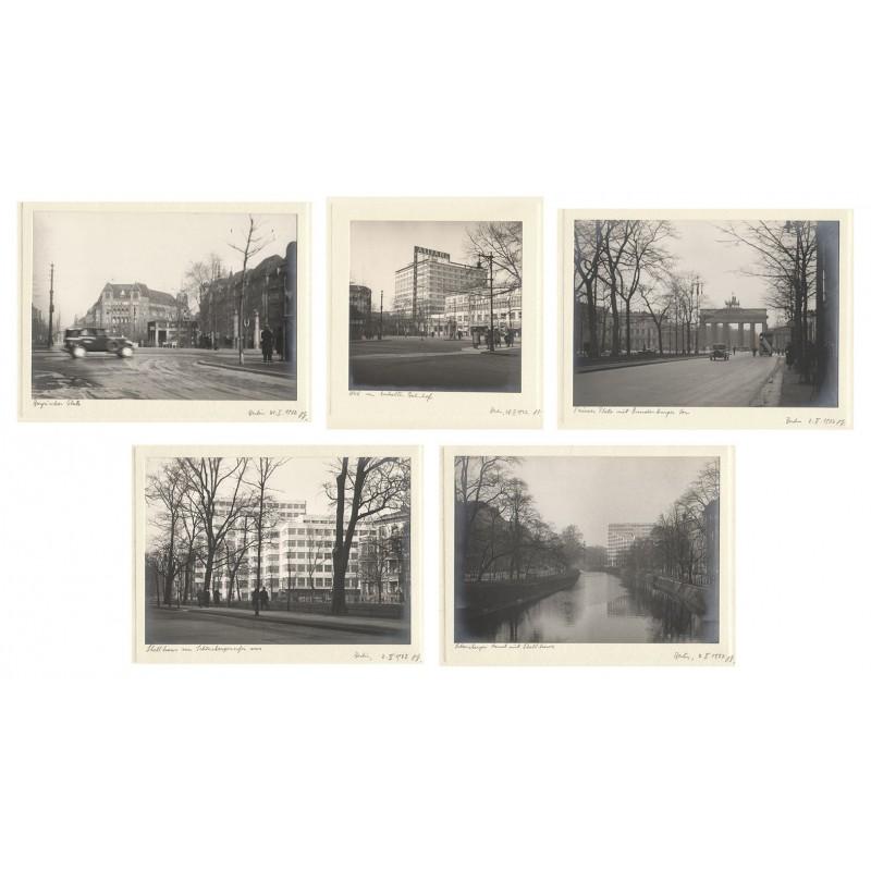 Anonymer Fotograf: Berlin. Januar und Februar 1932. Fünf Original Fotografien