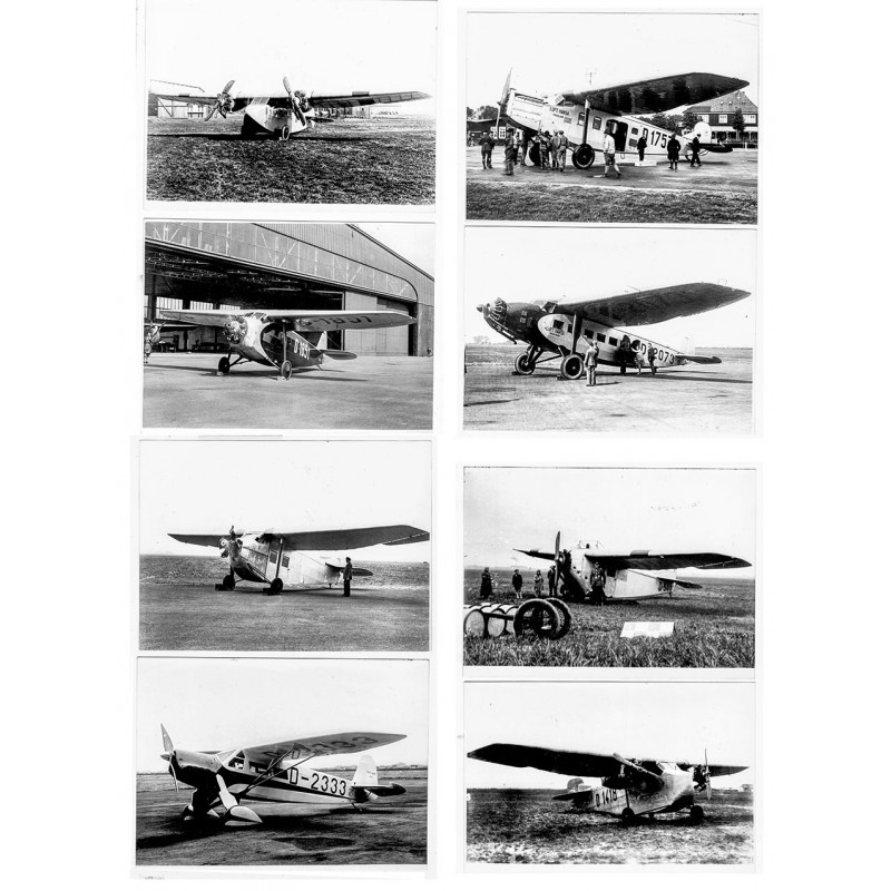 Focke-Wulf: Historische Flugzeuge. 8 Original Fotografien (1926 - 1930)