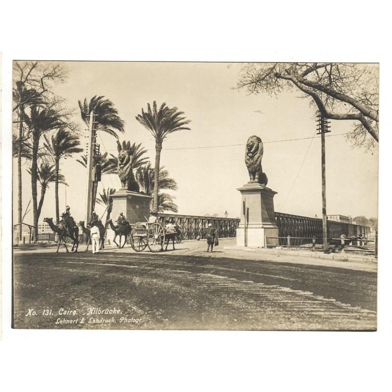 Ägypten - LEHNERT & LANDROCK: Kairo. Nilbrücke. Original-Fotografie (1920er Jahre).