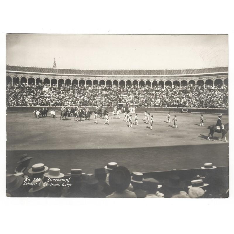Spanien (?) - LEHNERT & LANDROCK: Stierkampf. Einzug der Matadore. Original-Fotografie (1920er Jahre).