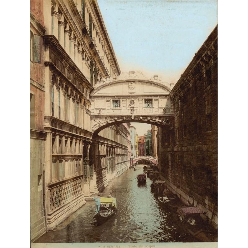 Venedig. Kolorierte Fotografie - Anonym: Venezia. Ponte dei sospiri. Original-Fotografie (ca. 1890