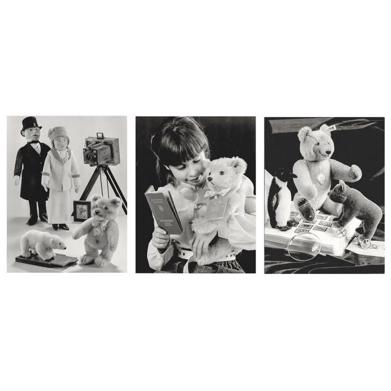 STEIFF: Steiff Teddy, Plüschtiere und Figuren. 3 Original-Fotografien (1987)
