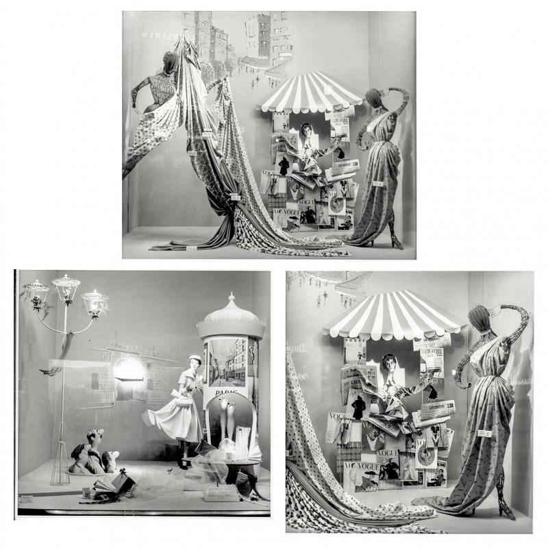 Haase, Brunhild: Schaufenstergestaltung in Düsseldorf. 3 Origial-Fotografien (1960er Jahre)