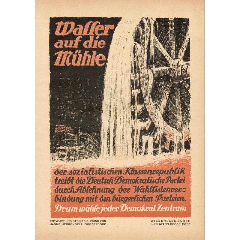 Werbe-Plakat-Entwurf - Herkendell, Hanns: Deutsch-Demokratische Partei (1919)