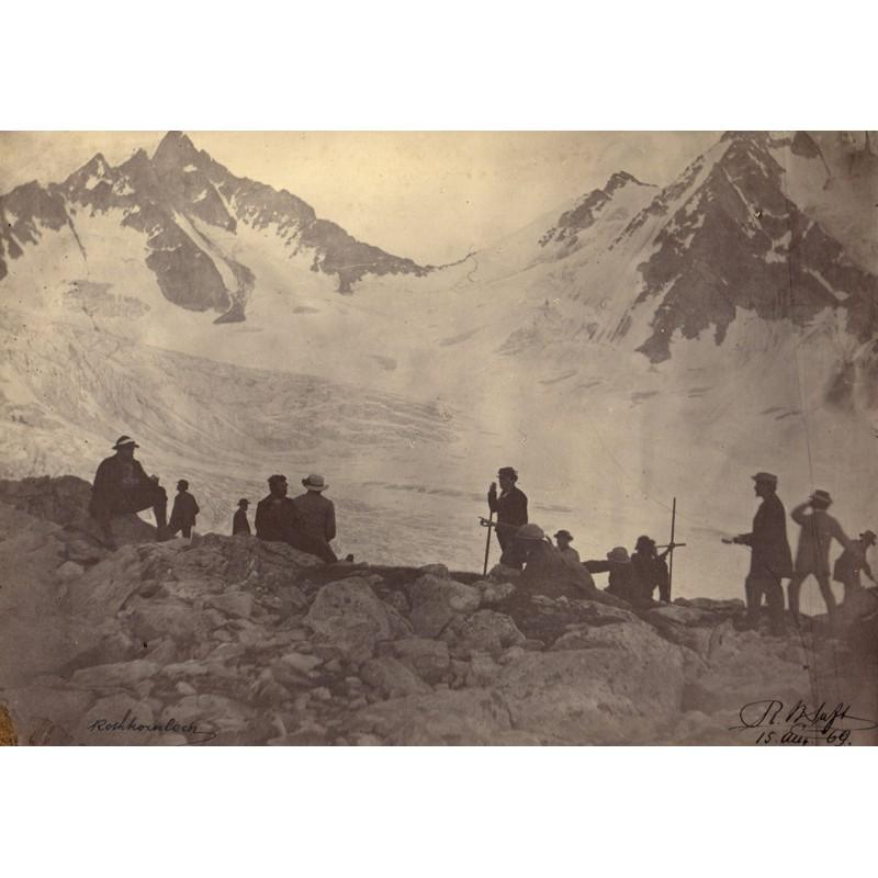 SAFT, R.H.: Rothornloch. Original Fotografie. Albumin-Abzug (15.08.1869)
