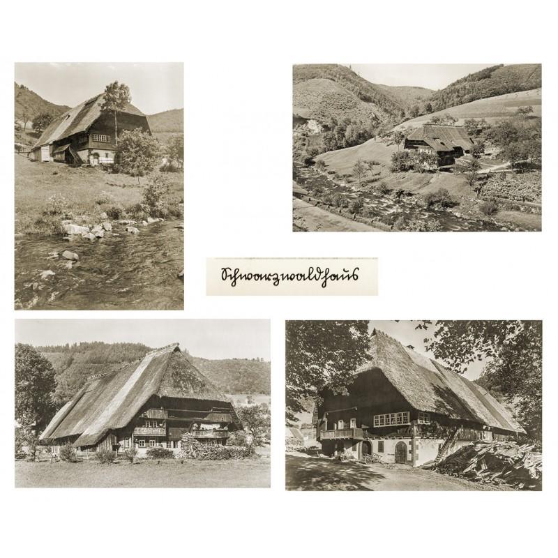 SCHWARZWALDHÄUSER. Vier 4 Original-Fotografien. Vintage prints (1940er Jahre).