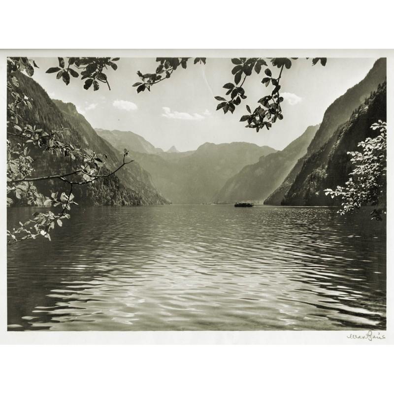 BAUR, Max: See in Oberbayern. Original Fotografie. Silbergelantine-Abzug (1950er Jahre?)