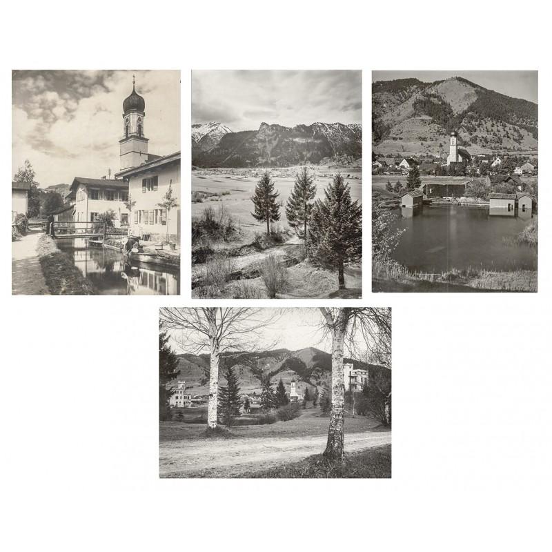 Oberammergau - Foto-Atelier Lorenz Fränzl, München. Vier Original Fotografien. Silbergelatine-Abzüge (um 1910-1911)