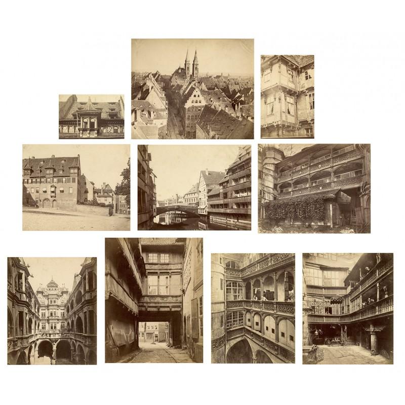 Nürnberg. 9 Original Fotografien (ca. 1880)