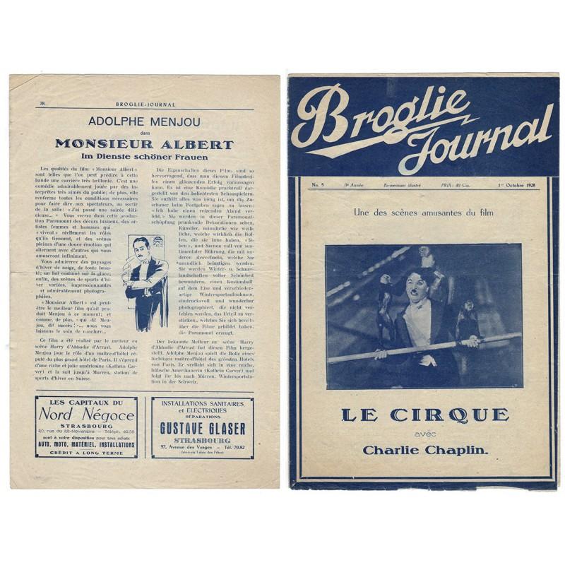 Stummfilm Programm zu: Charlie Chaplin: Der Zirkus / Le Cirque (1927)