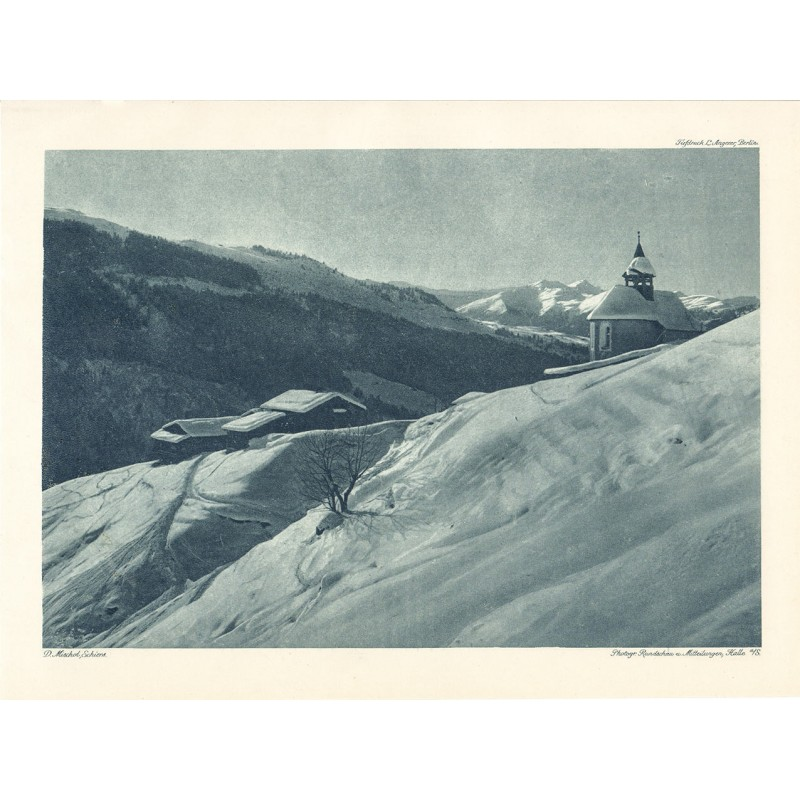 MISCHOL, Domenic: Winterlandschaft. Heliogravüre (1918)