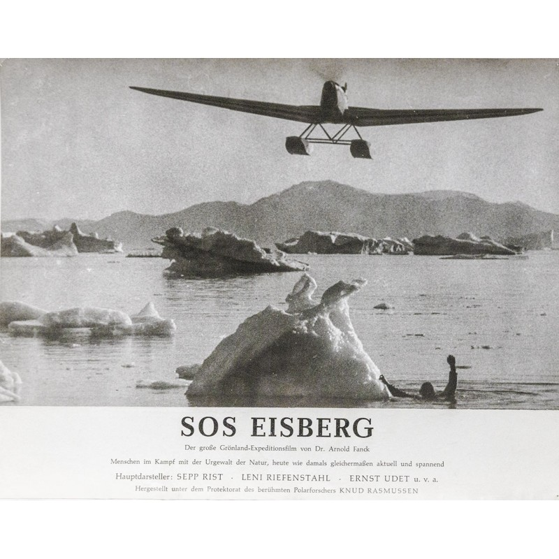 S.O.S. Eisberg Film von Dr. Arnold Fanck - Ernst Udet überfliegt Eisberge in Grönland (1933).