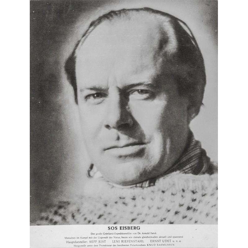 S.O.S. Eisberg Film von Dr. Arnold Fanck - Porträt von Ernst Udet, dem Flieger des Film-Projekts (1933).