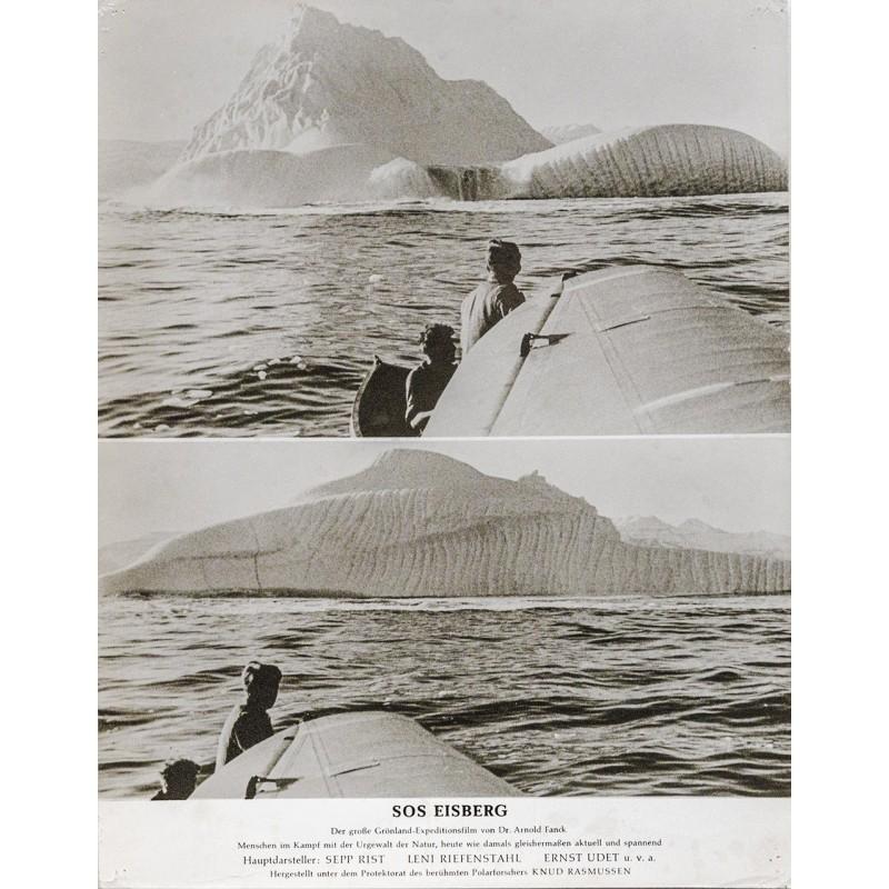 S.O.S. Eisberg Film - Kalbender Eisberg, vom Wasserflugzeug aus gesehen, Grönland (1933)