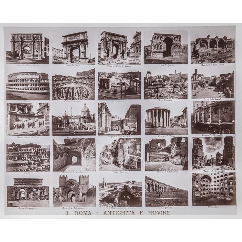 Rom: Fotografisches Bild-Tableau, bestehend aus 25 Original Fotos (ca. 1890)