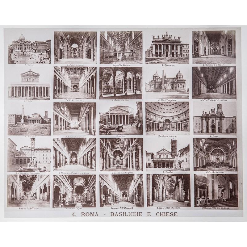 Rom: Fotografisches Bild-Tableau, bestehend aus 25 Aufnahmen (ca. 1890)