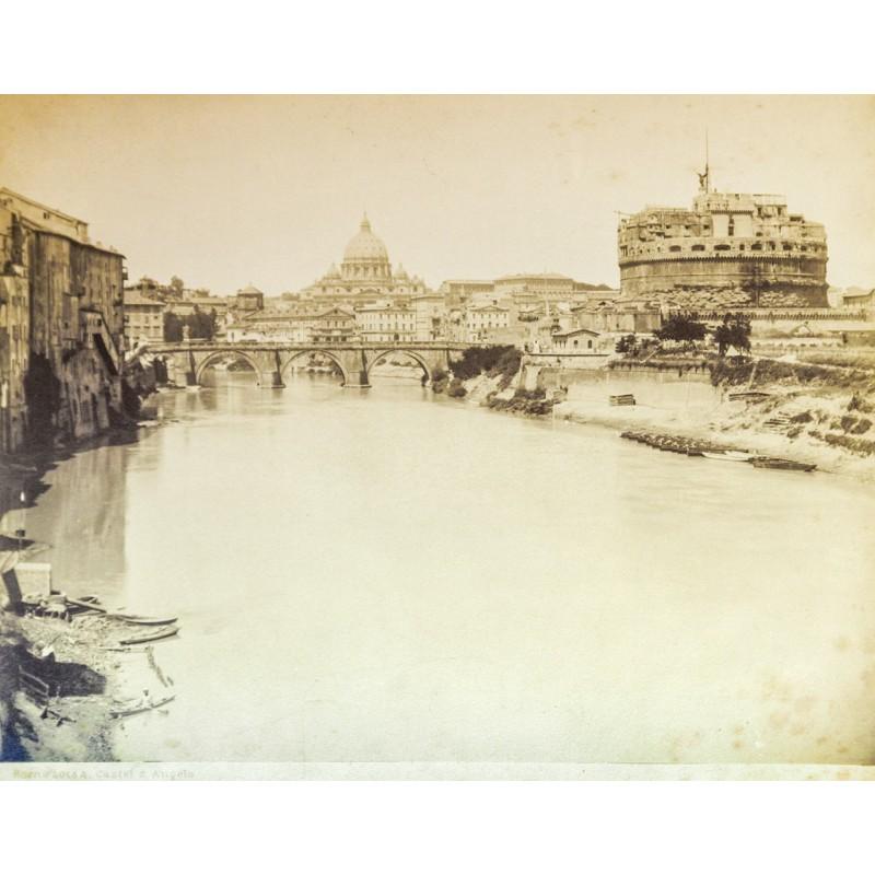 Anonymes Foto-Atelier: Rom - Roma. Castel S. Angelo. Original Fotografie. Albumin-Abzug (ca. 1880).