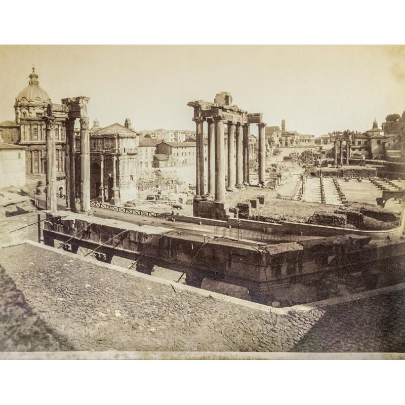 Anonymes Foto-Atelier: Rom - Roma. Forum Romanum. Original Fotografie. Albumin-Abzug (ca. 1880).