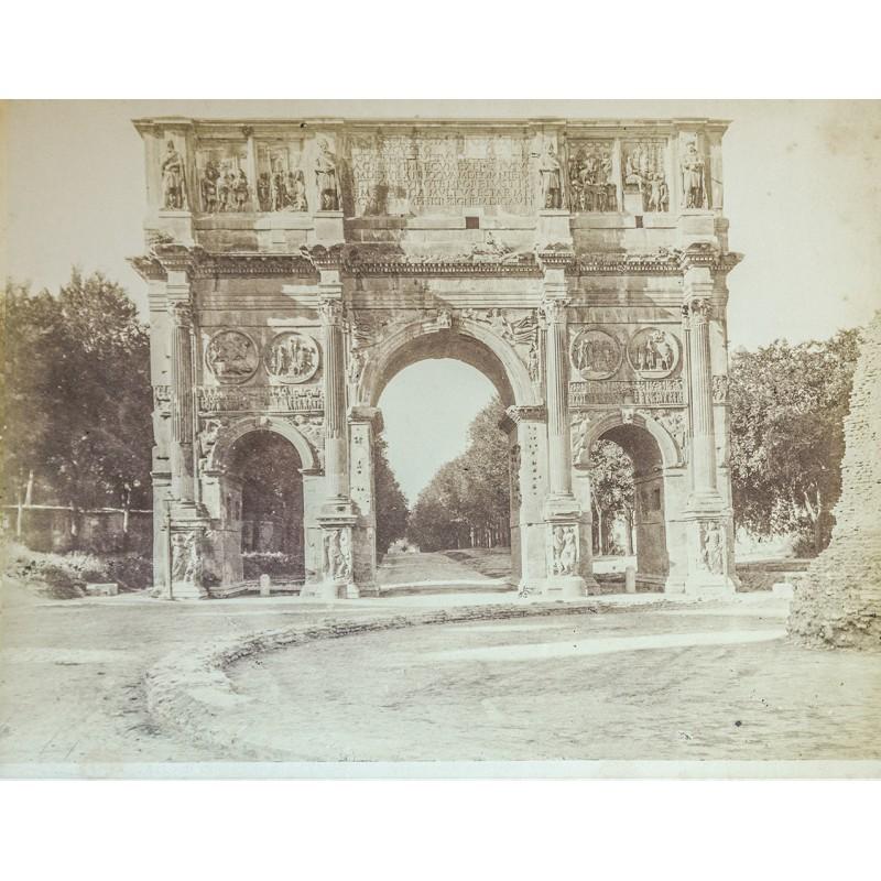 Anonymes Foto-Atelier: Rom - Roma. Septimius Severus Bogen. Original Fotografie. Albumin-Abzug (ca. 1880)