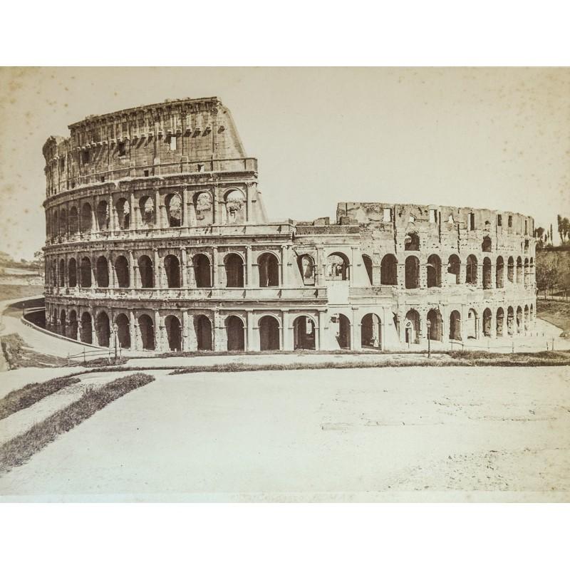 Anonymes Foto-Atelier: Rom - Roma. Collosseo. Original Fotografie. Albumin-Abzug (ca. 1880).