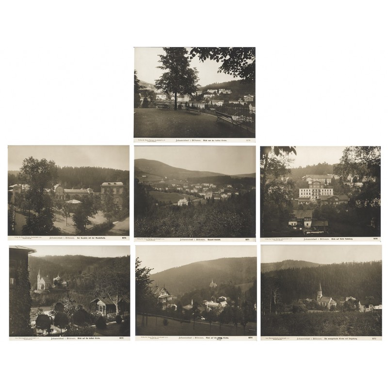Johannisbad in Böhmen / Janské Lázně. 7 Original-Fotografien (ca. 1905).