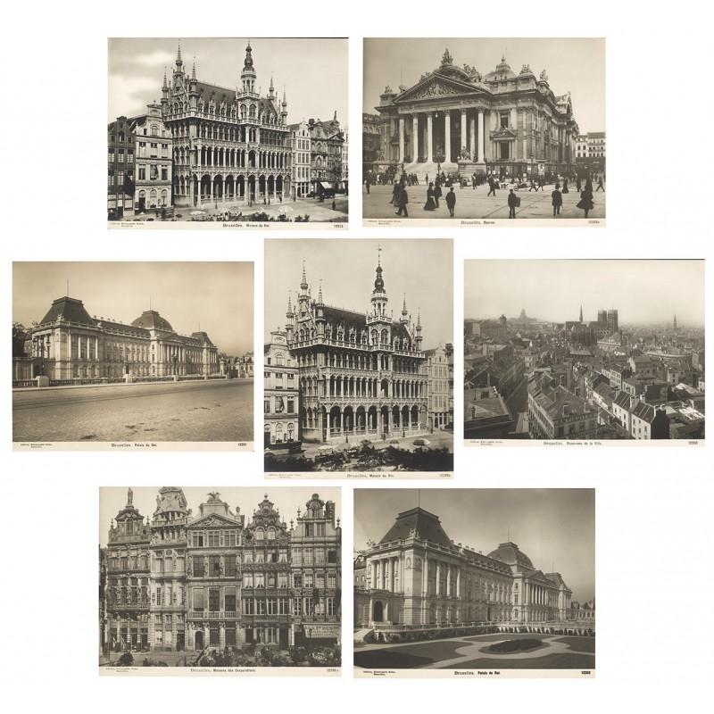Brüssel. 7 Original-Fotografien (ca. 1905)