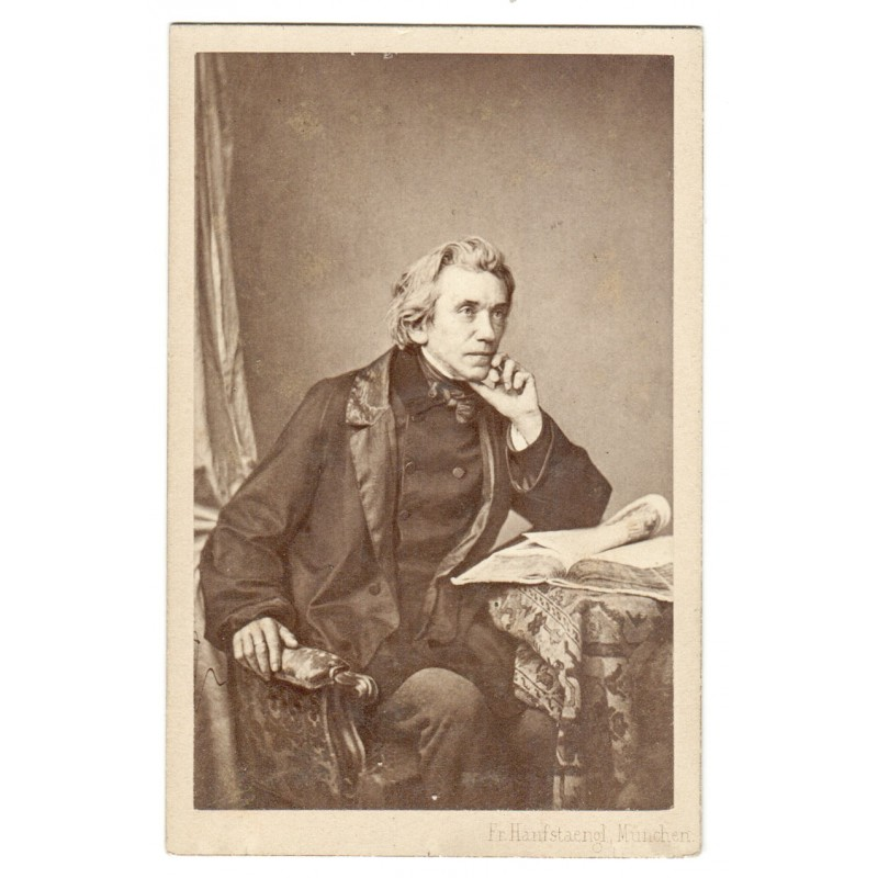 Adrian Ludwig RICHTER. Original-Fotografie. Albumin-Abzug (1860er Jahre)
