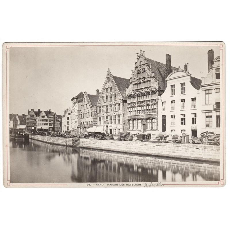 GAND (Gent, Belgien): Maison des Beteliers. Original-Fotografie. Albumin-Abzug (1881)
