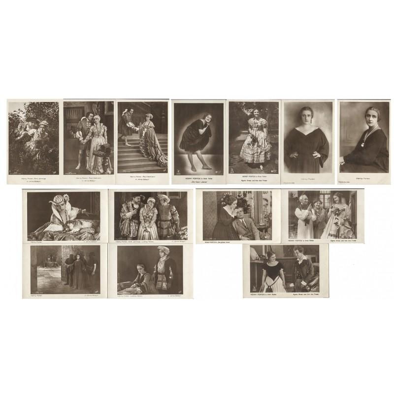 Bildnisse der Filmschauspielerin Henny PORTEN. 13 Original-Fotografien (1920er Jahre).
