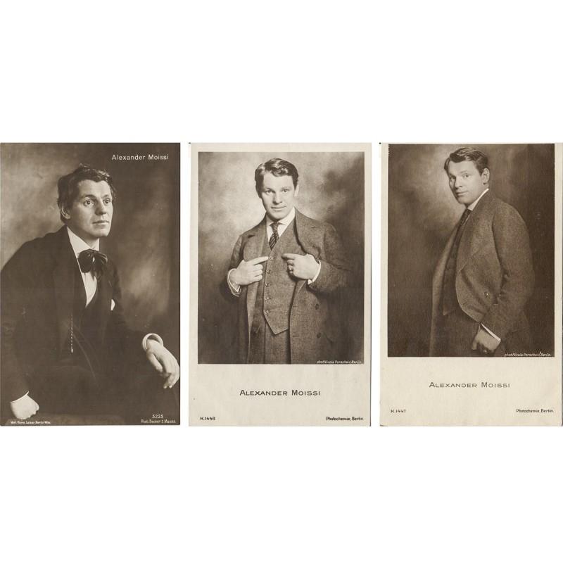 Der Schauspieler Alexander MOISSI. 3 Original-Fotografien (1920er Jahre).