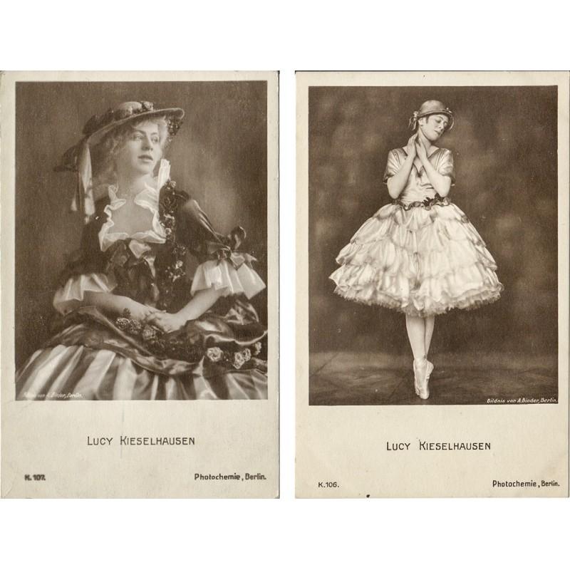 Die Tänzerin und Schauspielerin Lucy KIESELHAUSEN. Zwei Original-Fotografien (1920er Jahre).