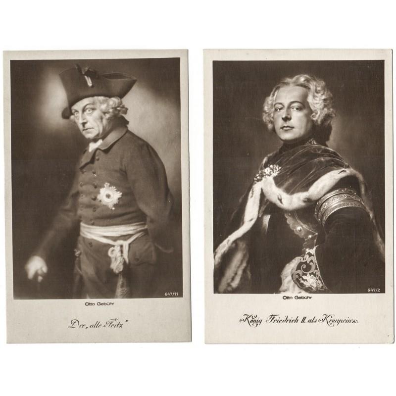 Der Schauspieler Otto GEBÜHR. Zwei Original-Fotografien (1920er Jahre).