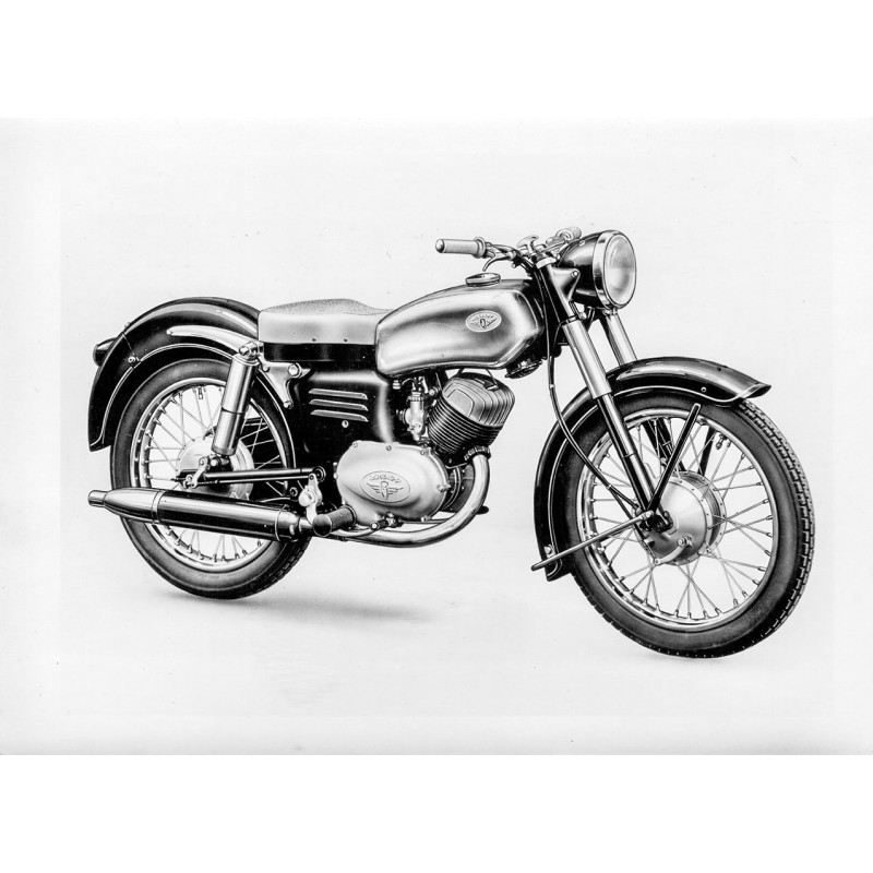 "Züdapp Werke: ZÜNDAPP MOTORRAD ""Elastic"" 250 ccm. Konvolut von 7 Original-Fotografien (1954)"