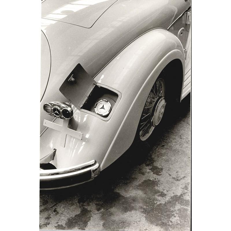 """Detail des Mercedes """"540 K"""", 5,4 Liter, Roadster. Original Fotografie (1937 - Abzug aus den 1960er Jahren)"""