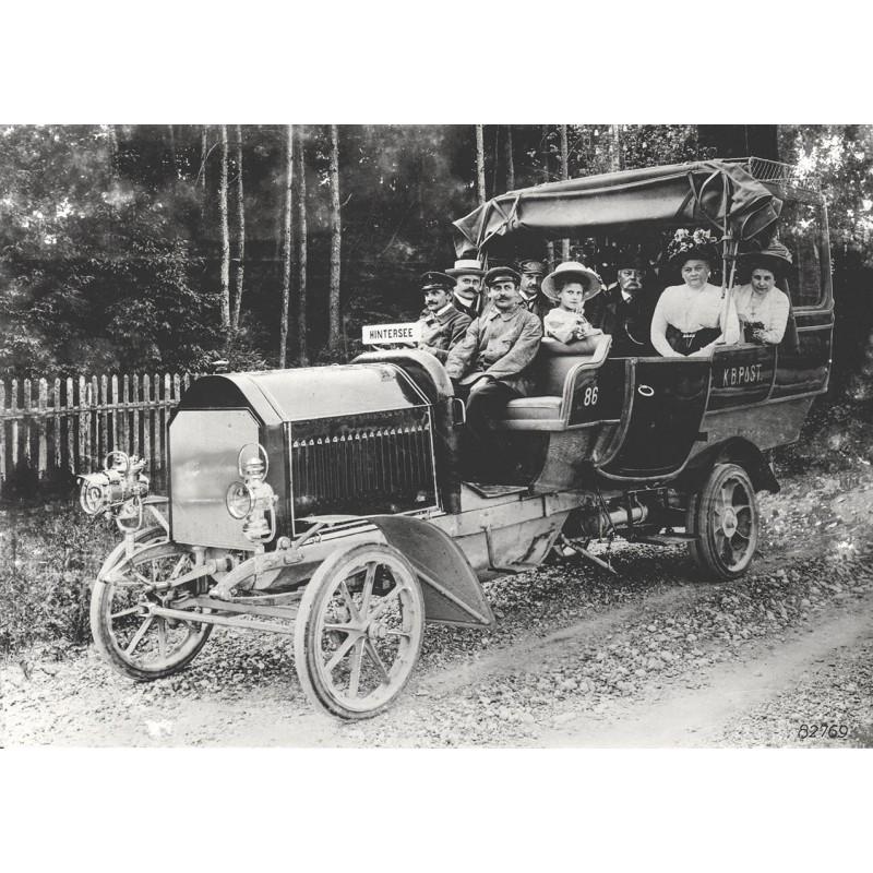 """Omnibus der """"Königlich-Bayerischen Post"""". Original Fotografie (1905 - Abzug von 1961)"""