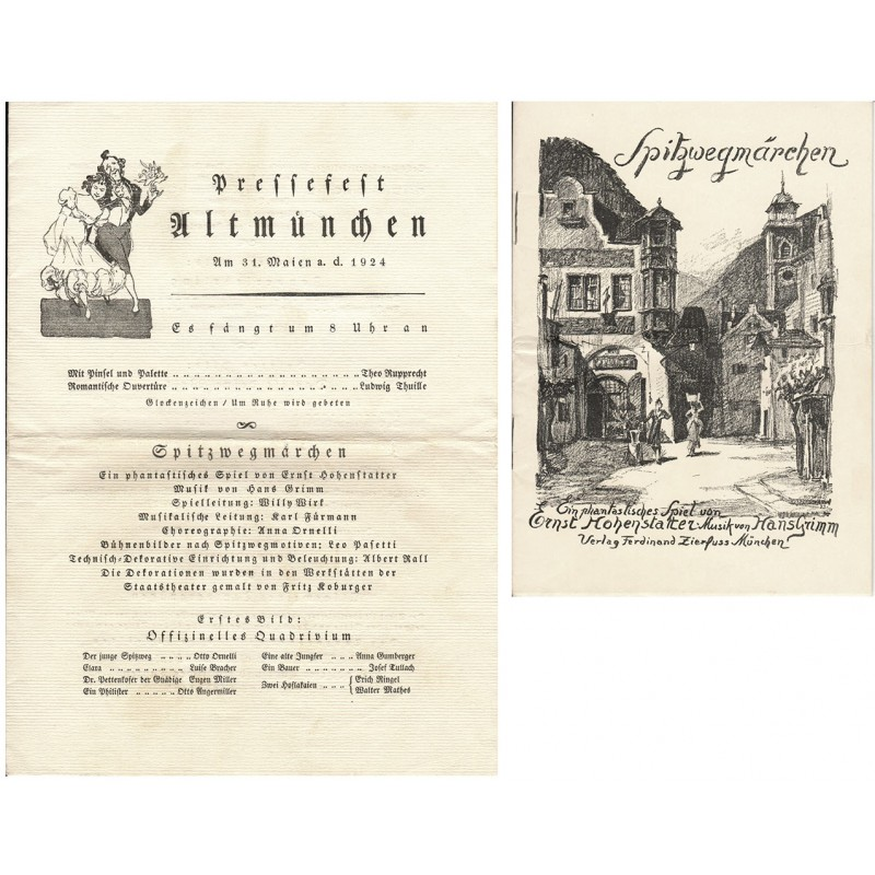 Spitzwegmärchen. Ein phantastisches Spiel in drei Bildern von Ernst Hohenstatter, Musik von Hans Grimm (1924)