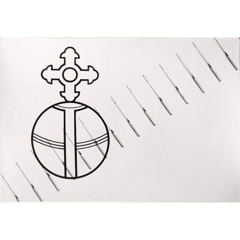 Paulus, Alfred: Nähmaschinen-Nadeln mit Firmen-Signet. Original-Fotografie (1950er)
