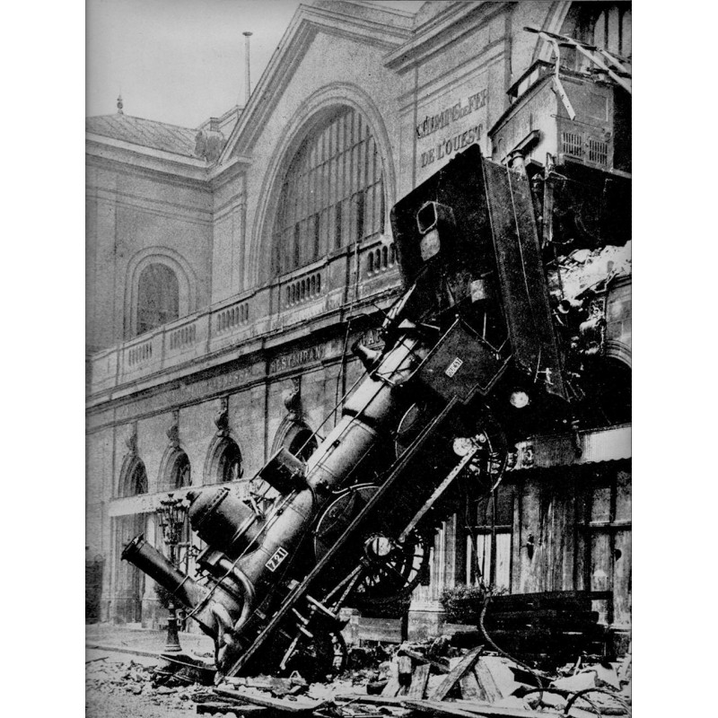 Eisenbahn Unfall am 23.10.1895 im Bahnhof Montparnasse, Paris.